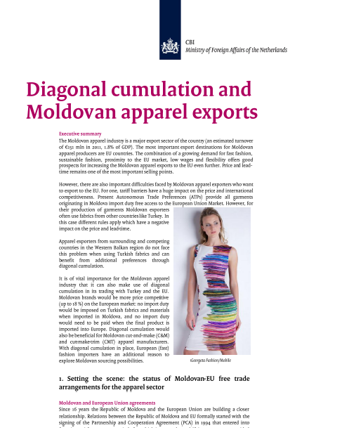Survey Diagonal Cumulation and Moldovan textile exports (CBI-Jose Koopman)